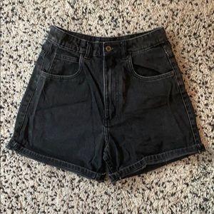 ZARA High waisted black denim shorts